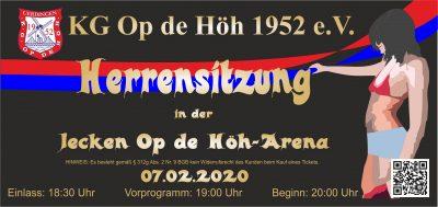 Herrensitzung 2020