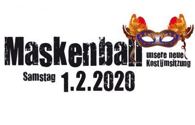 Maskenball 01.02.2020 (unsere neue Kostümsitzung)